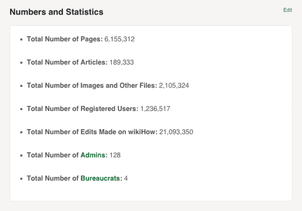 wikihow articles and numbers