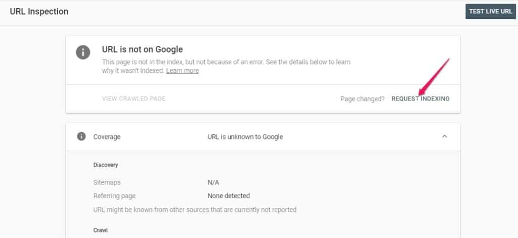 indexing google console