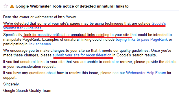 checking the penalty on google webmaster tools