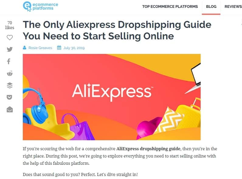 Aliexpress drop shippings