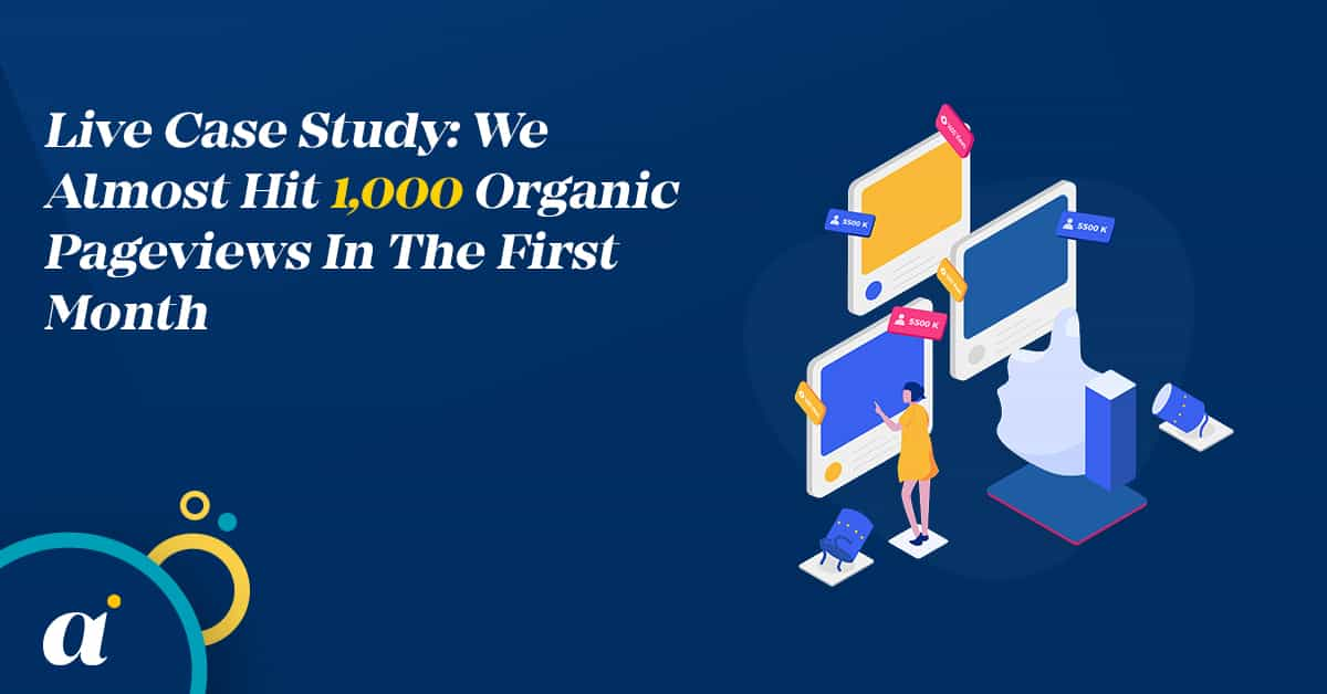 Live Case Study We Almost Hit 1,000 Organic Pageviews In The First Month