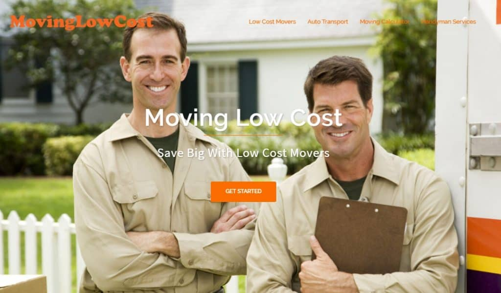 Moving Low Cost Website