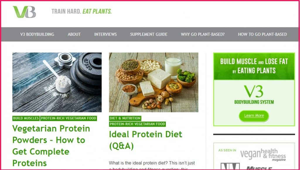 Vegeterian Body Building Website