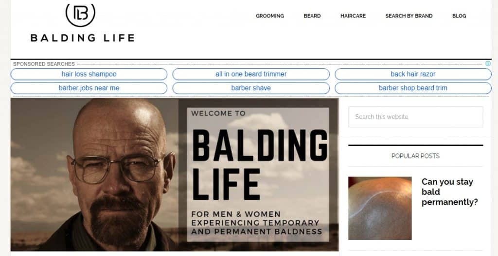 Balding Life Website