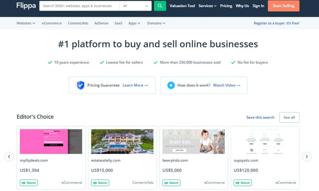 Flippa the Website Marketplace