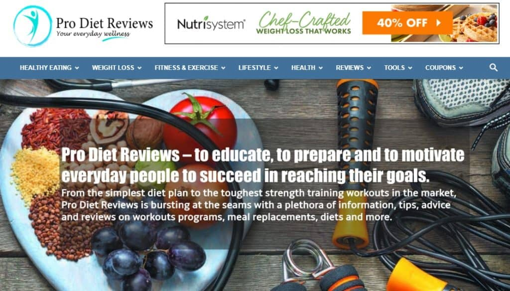 Pro Diet Reviews Website