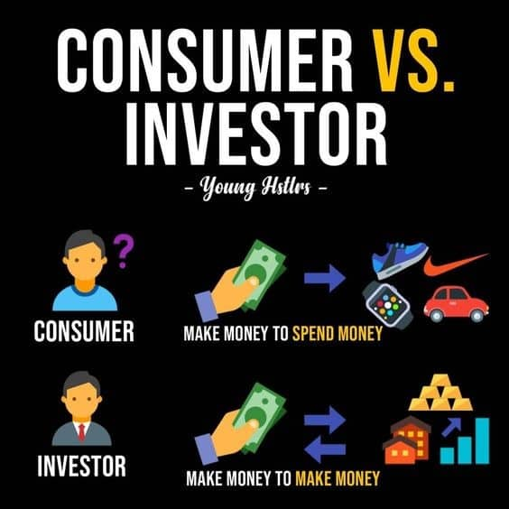Differences between a consumer and an investor