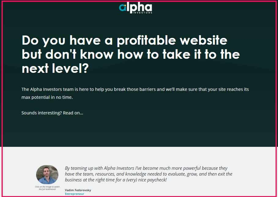 alpha investors offers content and general site management as well as seo services