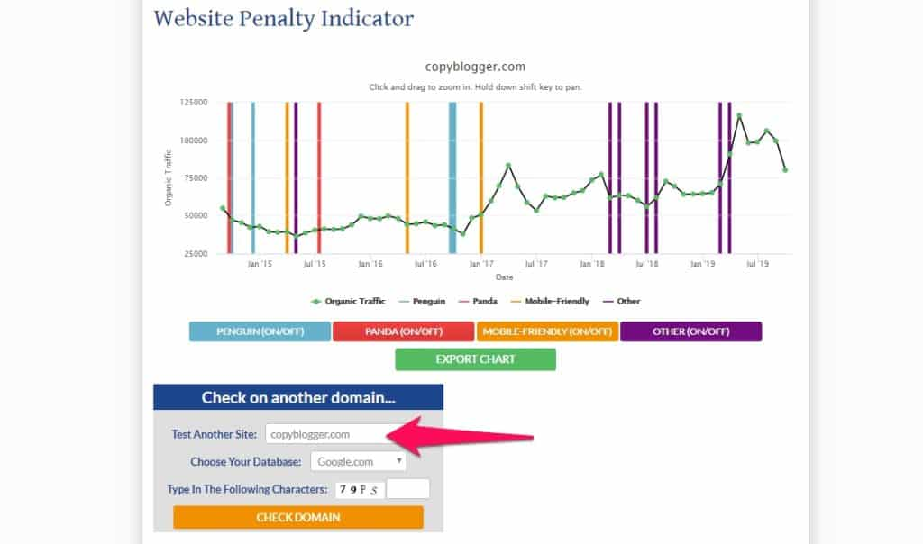 checking penalties on a website