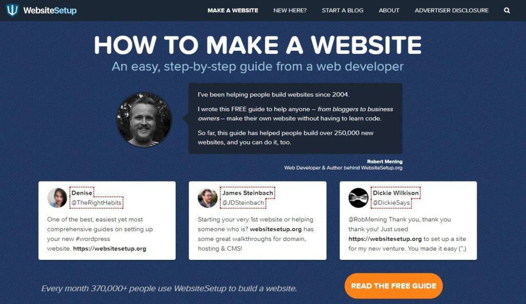 guide on how to make a website