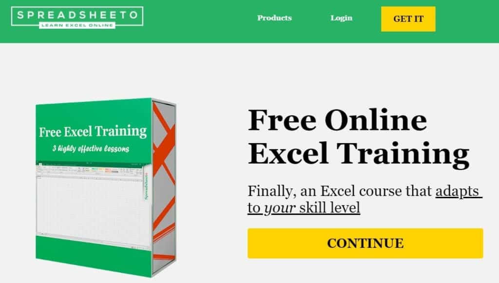 selling an excel course