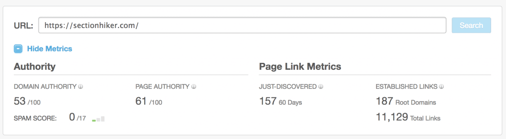 moz tool checking authority