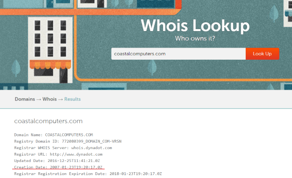 Whois Aged Domain Lookup